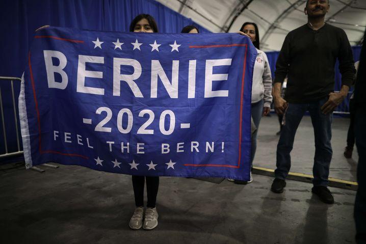 Schlagkräftige Wahlkampforganisation: Sanders-Anhängerin in Kalifornien