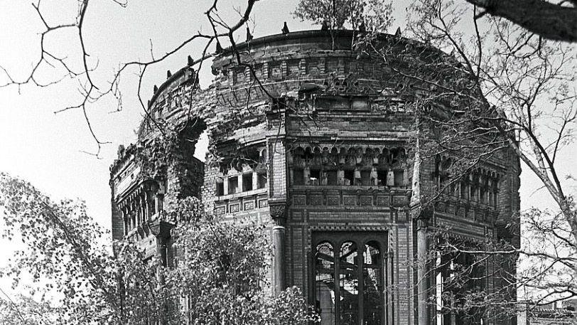 Verfallen: Ruine der Berliner Synagoge an der Oranienburger Straße (1987)