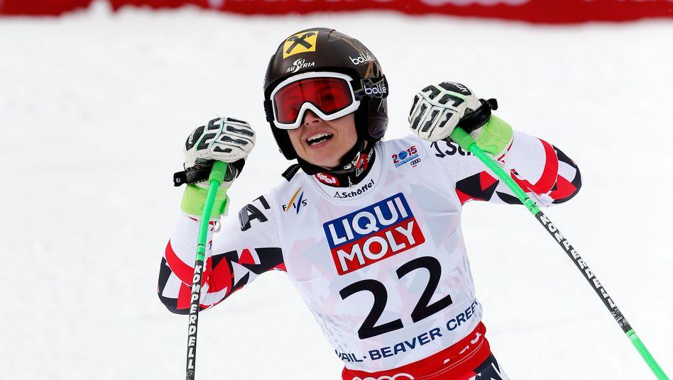 Skirennfahrerin Fenninger: Weltmeisterin im Super G