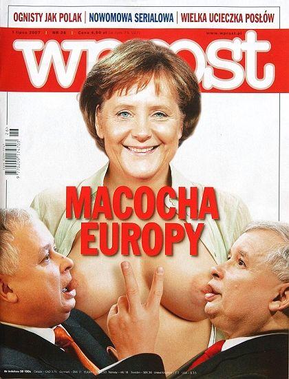 """Europe's Step-Mother:"" Polish magazine Wprostdoes it again."