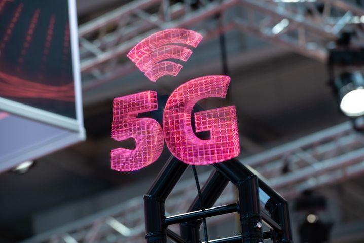 5G-Grafik auf der Hannover Messe