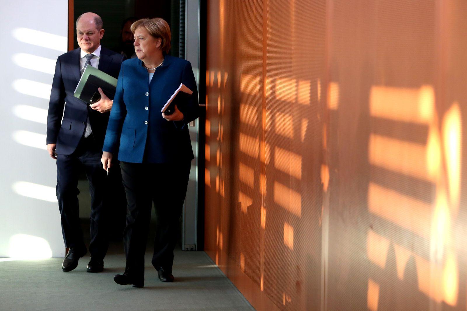 Angela Merkel Olaf Scholz