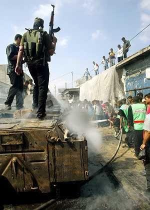 """Hamas-Mitglieder nach israelischem Angriff in Gaza: Drohungen gegen den """"zionistischen Feind"""""""