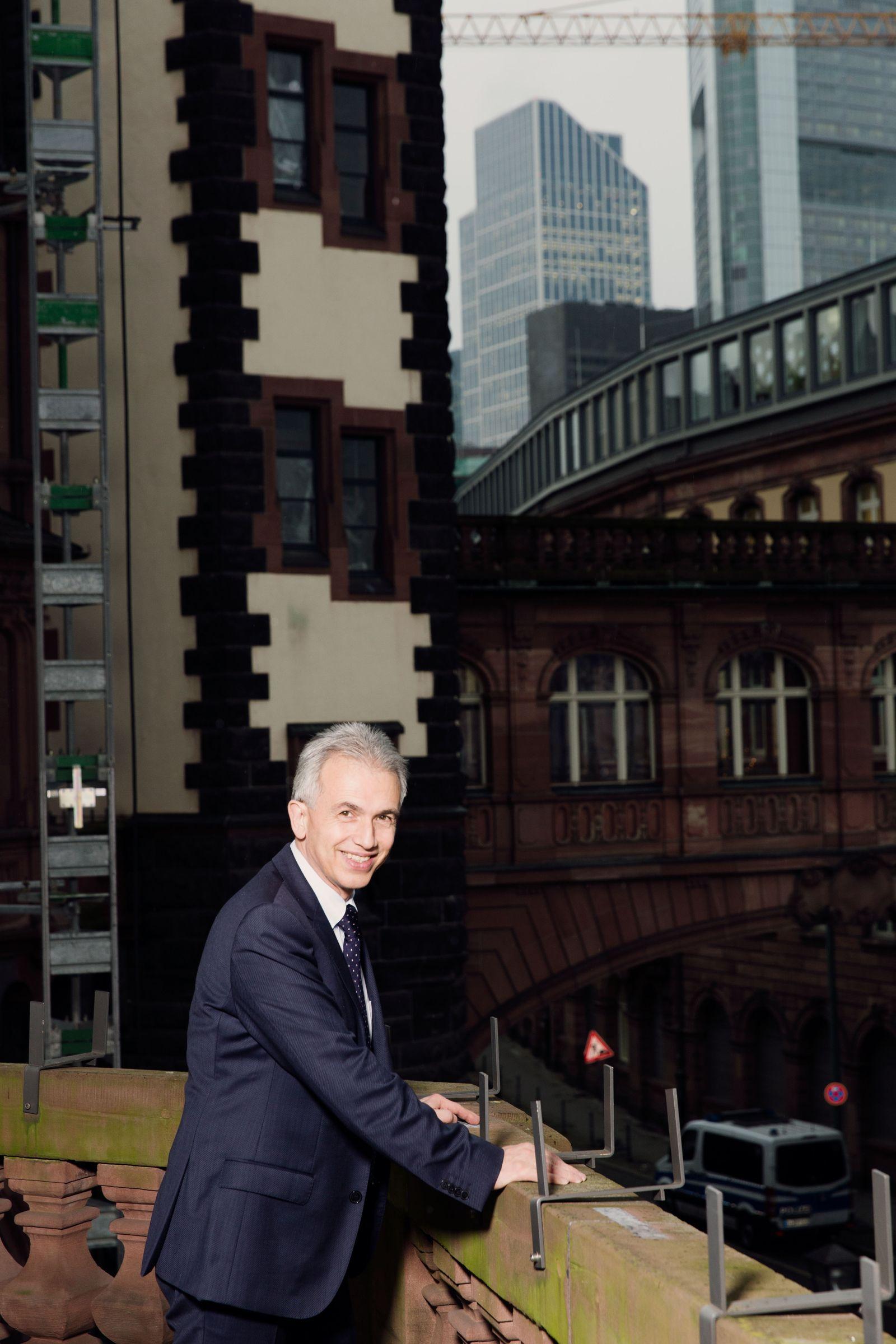 EINMALIGE VERWENDUNG NUR FÜR SPIEGEL Plus SPIEGEL 3/2018 Frankfurt / Peter Feldmann