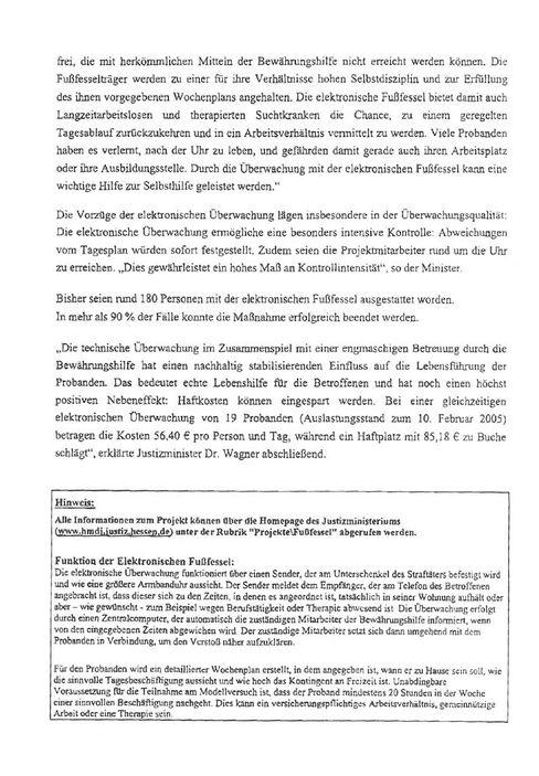 Pressemitteilung des Justizministeriums, Seite 2