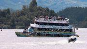 Ausflugsschiff sinkt auf Stausee