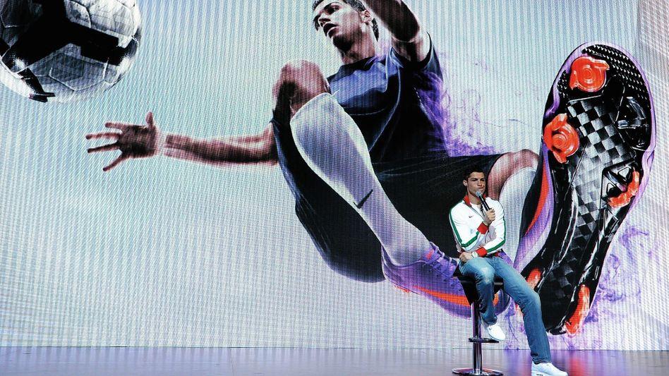 Ronaldo bei einer Schuhpräsentation in London
