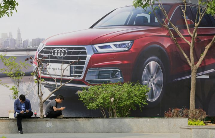 Audi-Plakat in Peking