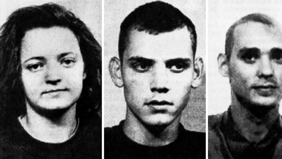 The neo-Nazi trio Beate Zschäpe ((L), Uwe Böhnhardt (C) and Uwe Mundlos eluded German authorities for over a decade.