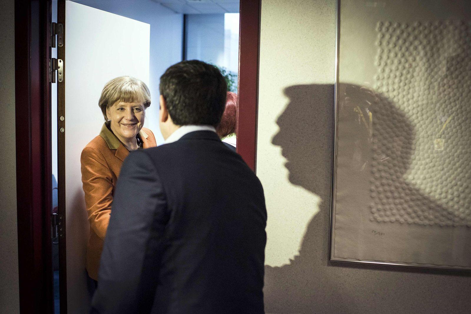 Merkel / Tsipras / Brüssel