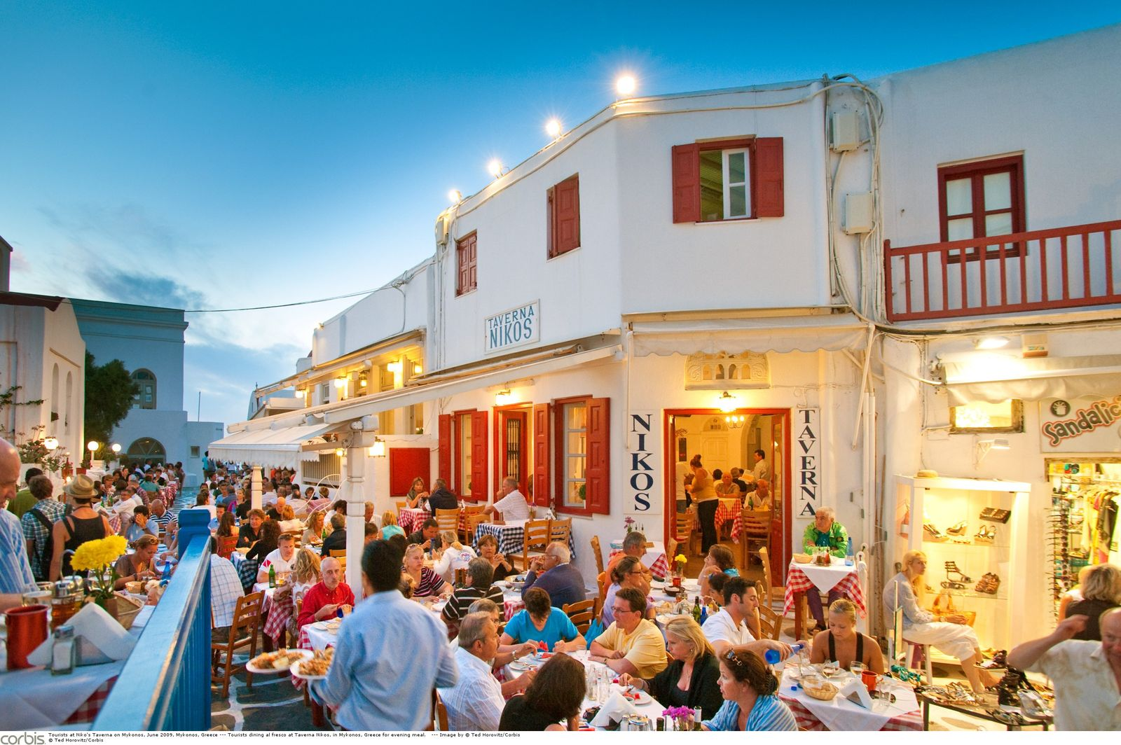 NICHT MEHR VERWENDEN! - Mykonos / Taverne / Griechenland / Abendstimmung
