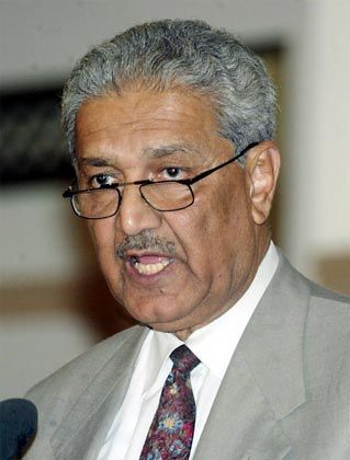 Abdul Qadeer Khan is celebrated in Pakistan as the Father of the Nuclear Bomb. He is under house arrest.