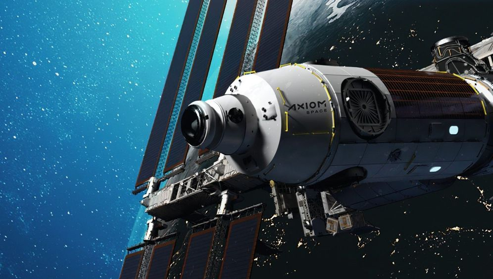 Raumstationsmodul von Axiom (Simulation): »Geschenk Gottes«