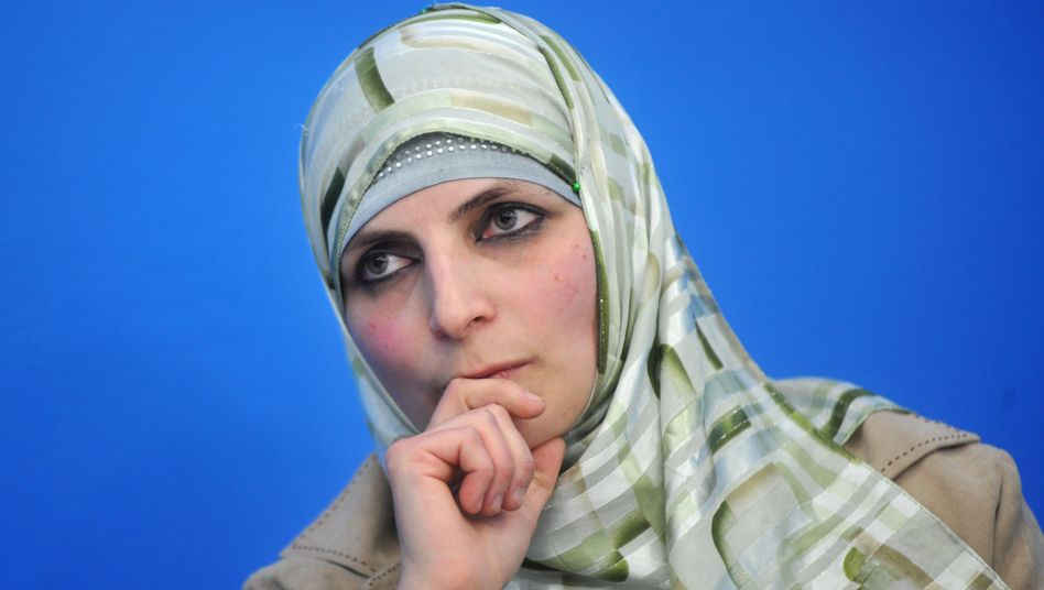 Veronika Abu Sisi, wife of Palestinian engineer and alleged Hamas member Dirar Abu Sisi.