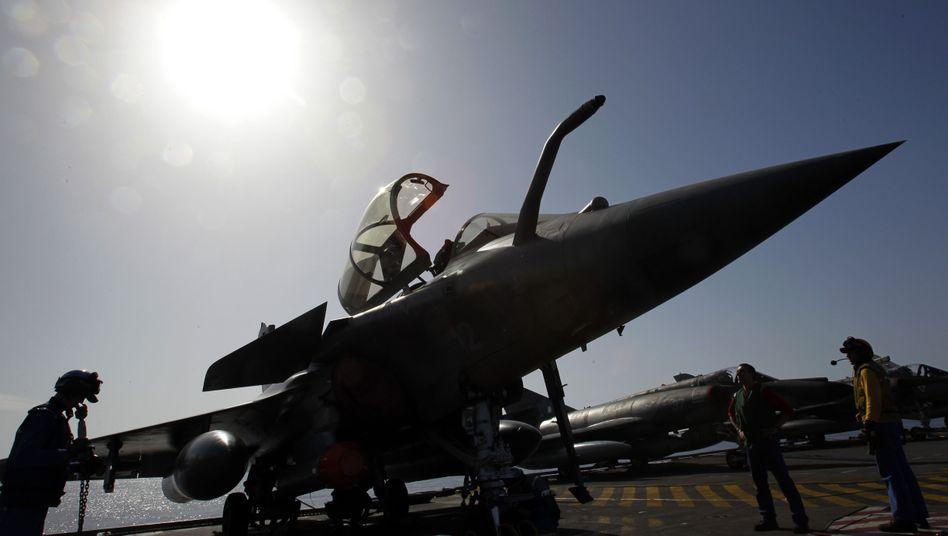 Rafale-Kampfjet vor dem Einsatz in Libyen: Munition nicht kompatibel