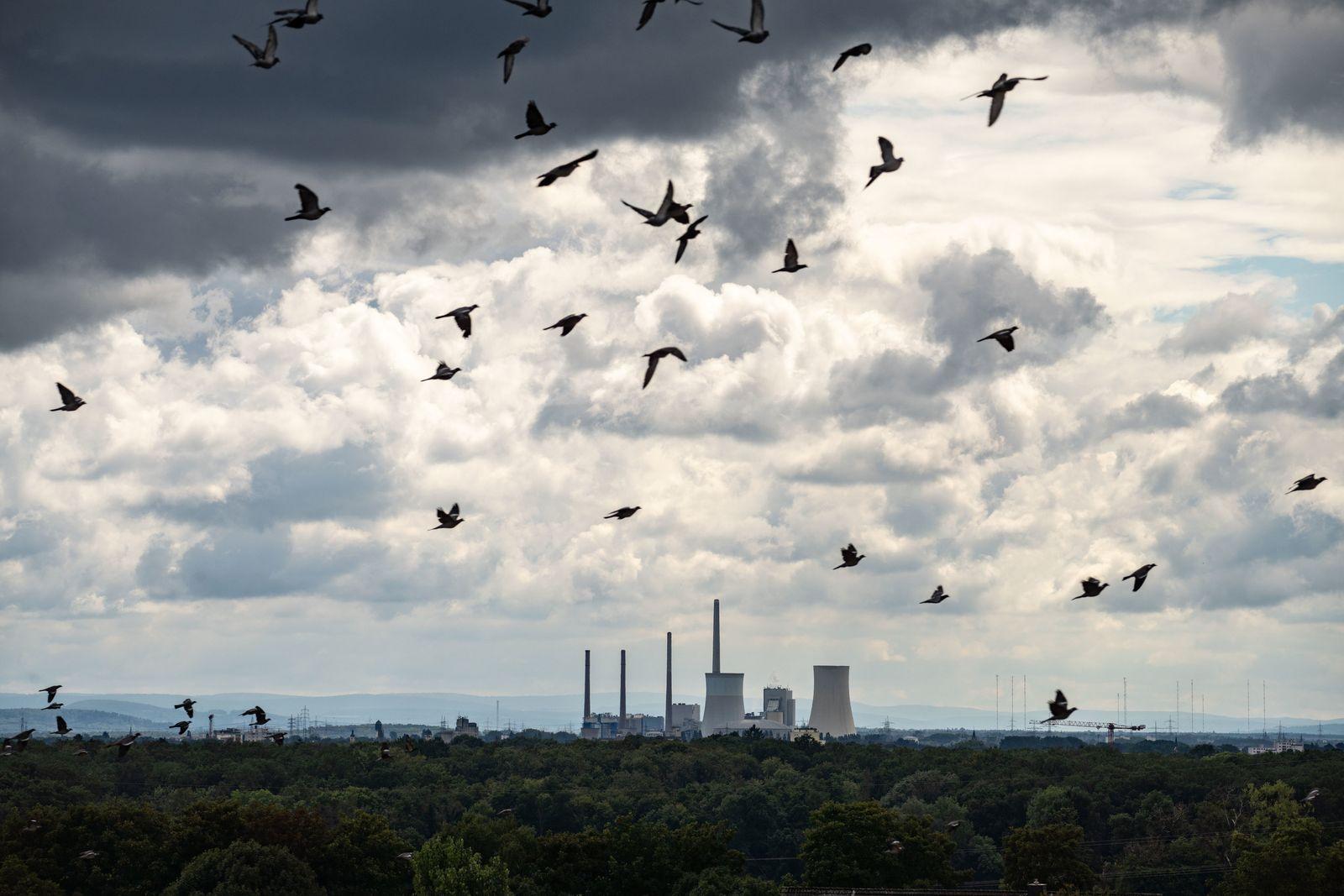 Wolken über Kohlekraftwerk