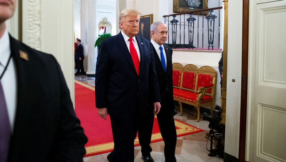 Donald Trump und Benjamin Netanyahu im Weißen Haus
