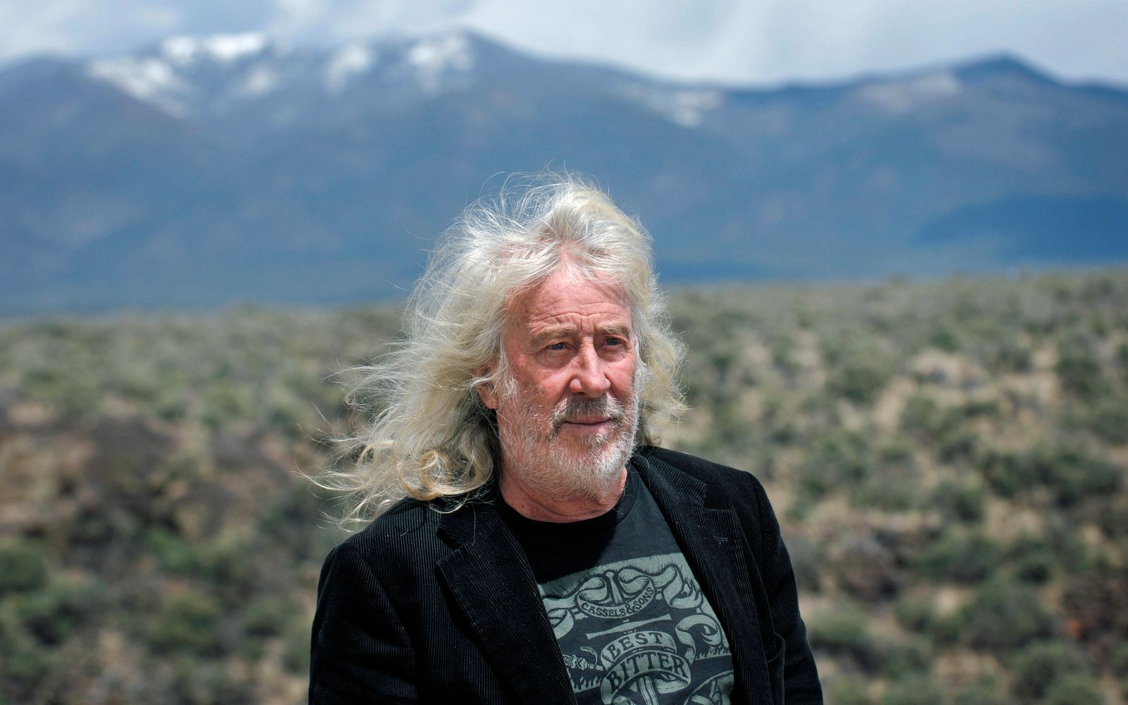 May 1, 2014, USA: Michael Reynolds, the creator of the Earthship communty and Earthship Biotecture Academy, outside his
