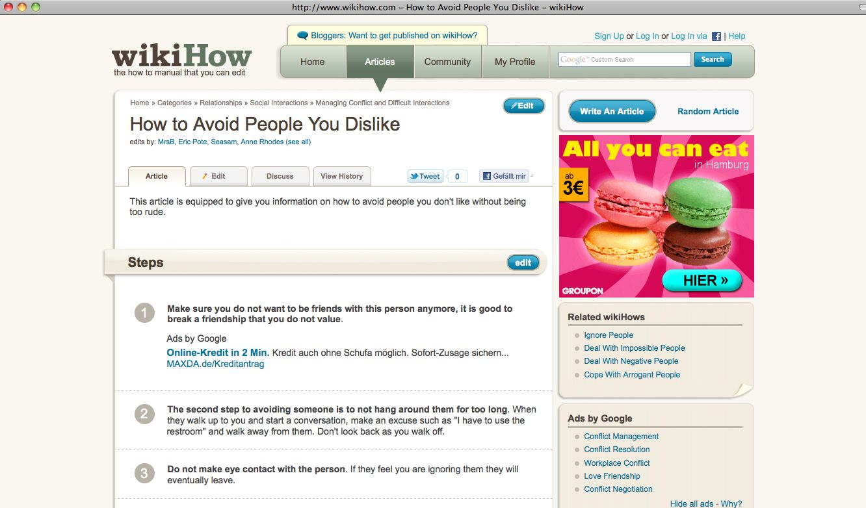 NUR ASL ZITAT Screenshot / WikiHow