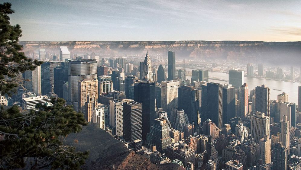 Fotomontage: Manhattan im Grand Canyon