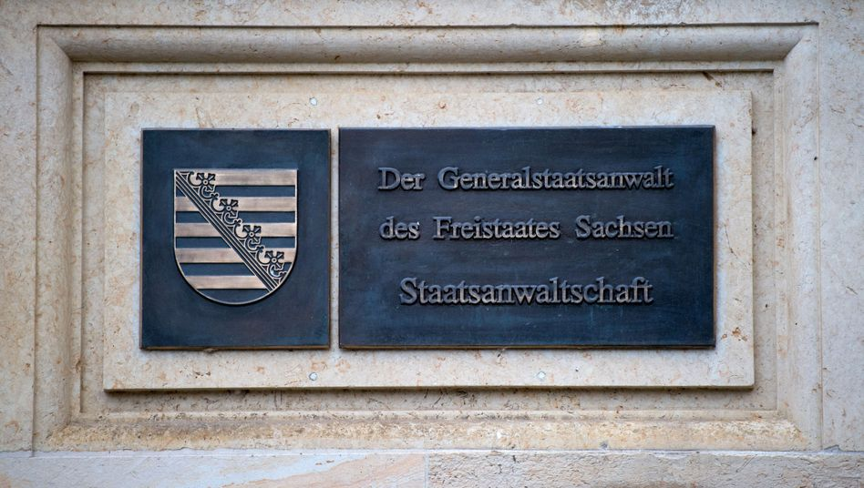 Tafel der Staatsanwaltschaft am Amtsgericht Dresden