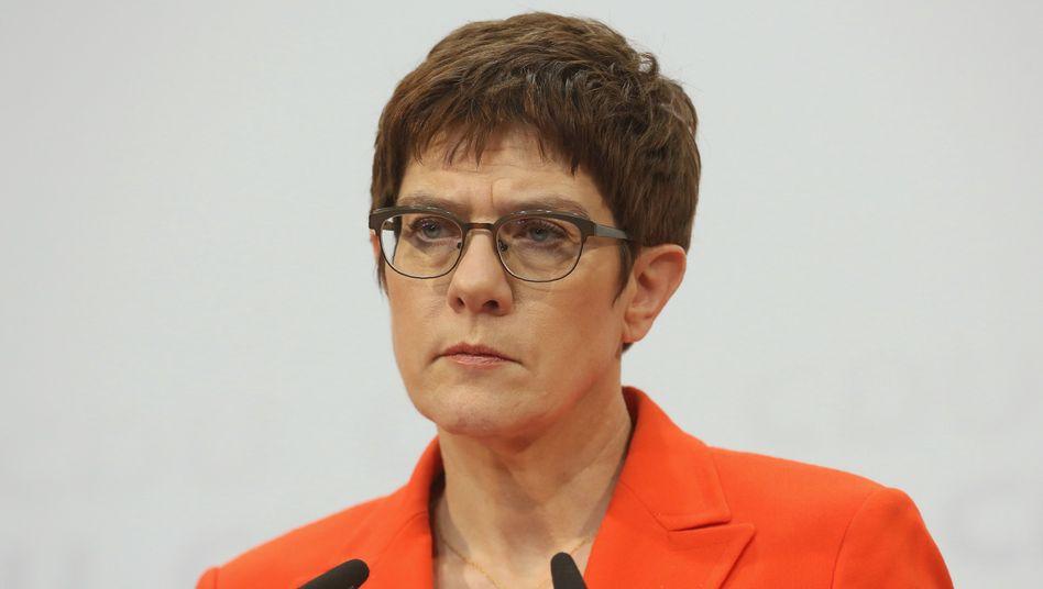 CDU-ChefinAnnegretKramp-Karrenbauer während einer Pressekonferenz
