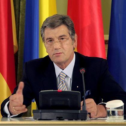 Ukraines Präsident Juschtschenko: Sorgen für die EM 2012