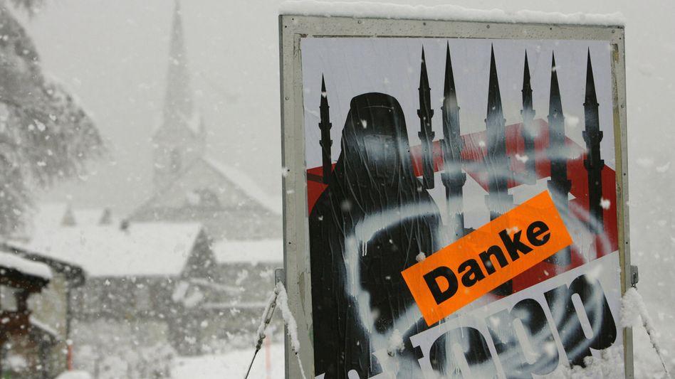 Anti-Minarett-Plakat in der Schweiz: Die Initiatoren bedanken sich bei den Wählern