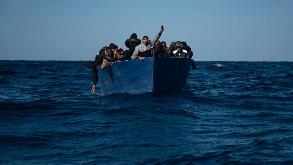 Menschen aus Eritrea flüchten vor der Gewalt