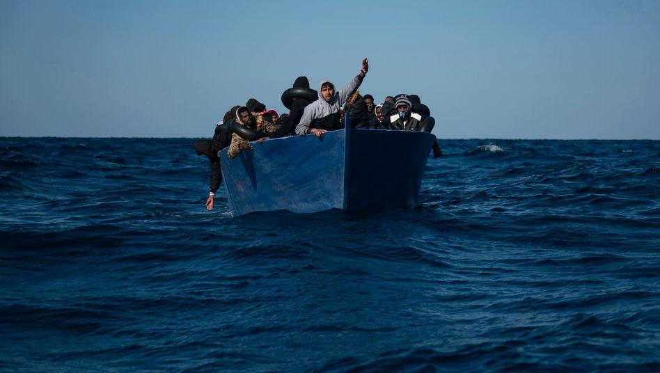 Migranten auf dem Mittelmeer (im Januar)