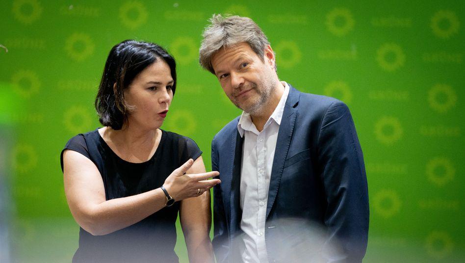 Annalena Baerbock und Robert Habeck: Unter ihrer Führung ist die Mitgliederzahl der Grünen rapide gestiegen