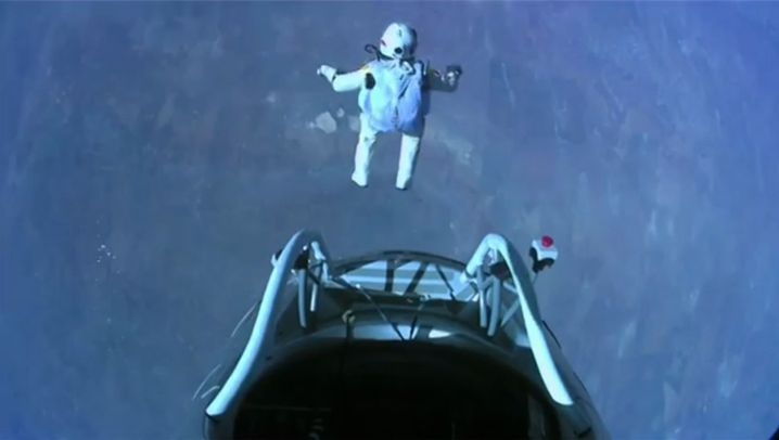 Sprung aus der Stratosphäre: Baumgartners Rekordmission