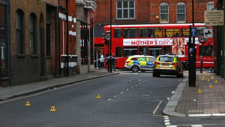 Tatort einer tödlichen Messerattacke in Camden, London (2016): Der Streit über die Gründe für die Gewaltexplosion wird erbittert geführt