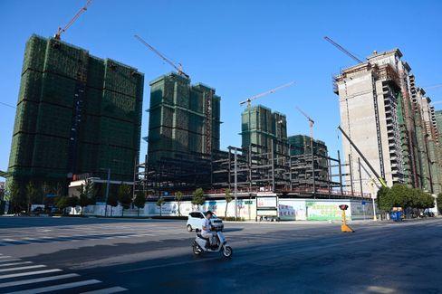 Baustelle eines Evergrande-Projekts in Zentralchina