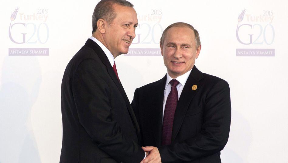 Erdogan und Putin bei einem Treffen im November 2015