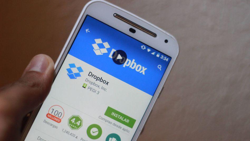 Die Dropbox-App: Geld verdient das Unternehmen mit Abos für die Businessvariante - genau die ist während der Coronakrise gefragt
