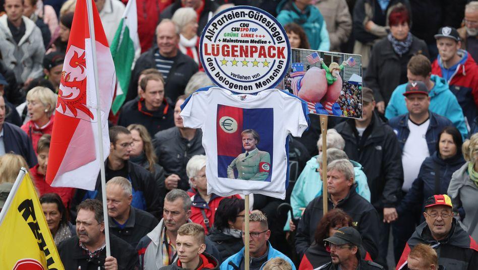 Pegida-Sympathisanten in Dresden