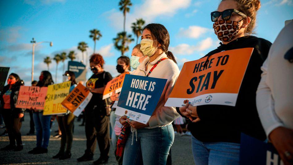 Befürworter des Daca-Programms bei einer Protestveranstaltung in San Diego