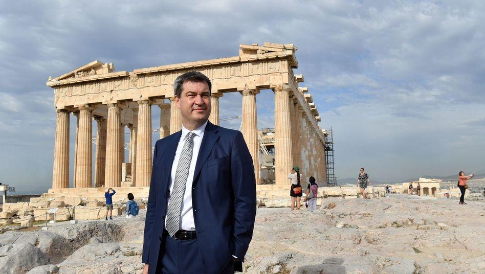 Söder auf der Akropolis in Athen