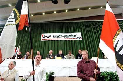 NPD-Parteitag in Leinefelde: Weitestgehend abgeschottet