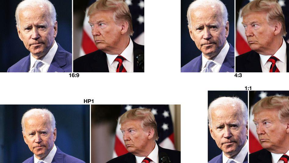 """Joe Biden (l.) und Donald Trump: """"Es klingt für mich schrecklich"""""""