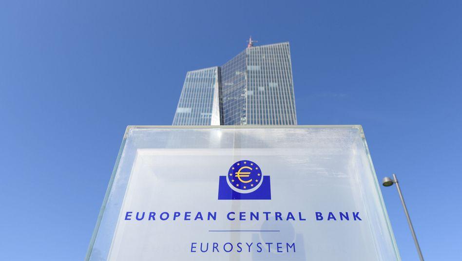 Zentrale der Europäischen Zentralbank in Frankfurt