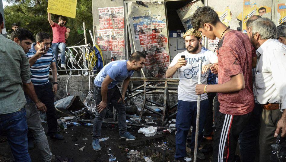 Diyarbakir nach dem Anschlag am 5. Juni: Drei Tote, über 200 Verletzte