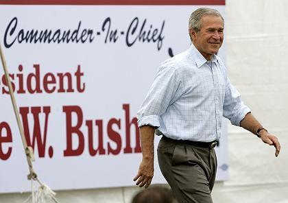 """Bush (in Piney Point): """"Atomstrom ist sicher"""""""