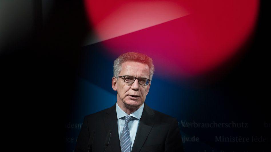 Innenminister Thomas de Maizière (CDU)