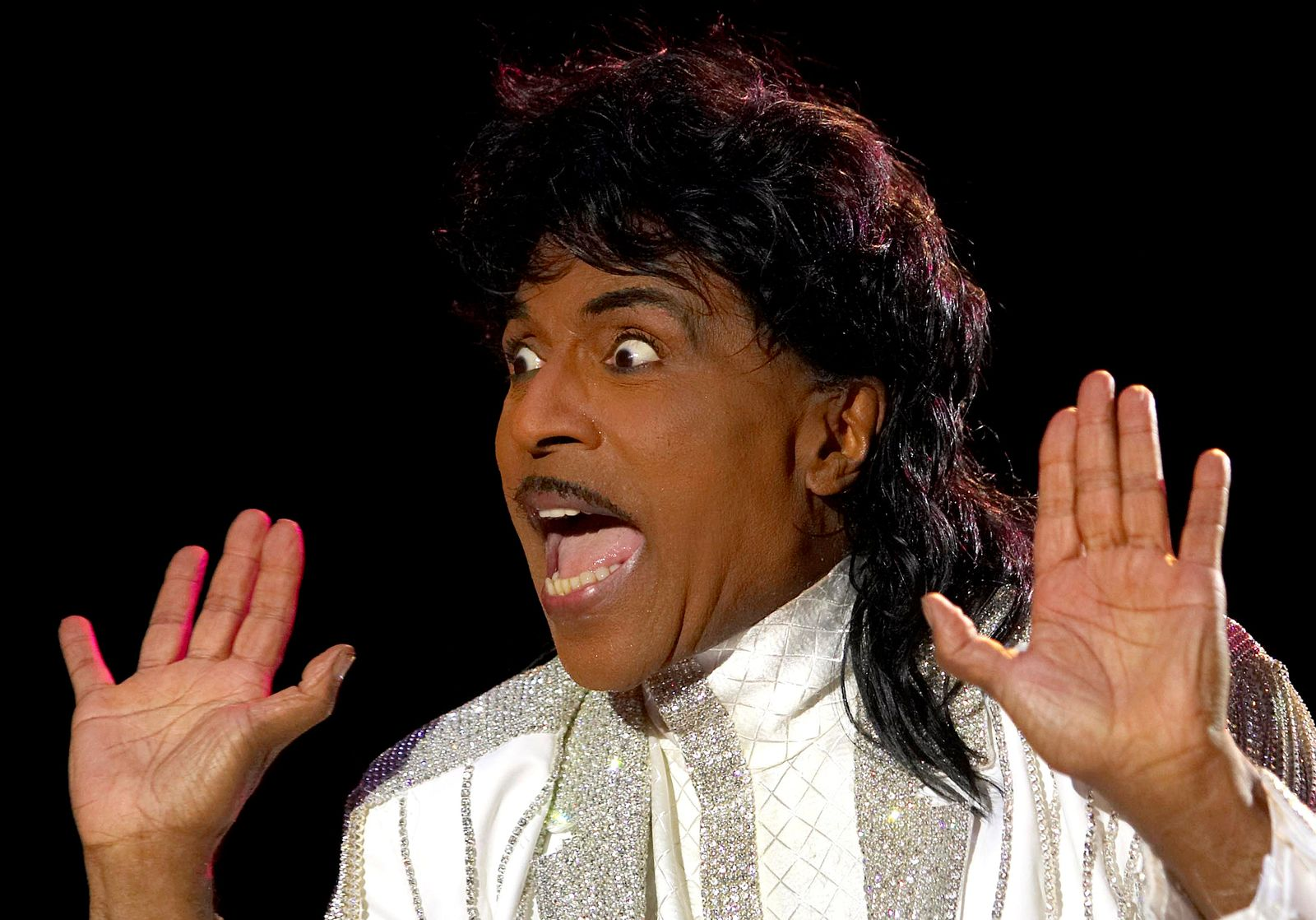 FILE PHOTO: Entertainer Little Richard performs on stage at Crossroad festival in Gijon, northern Spain.