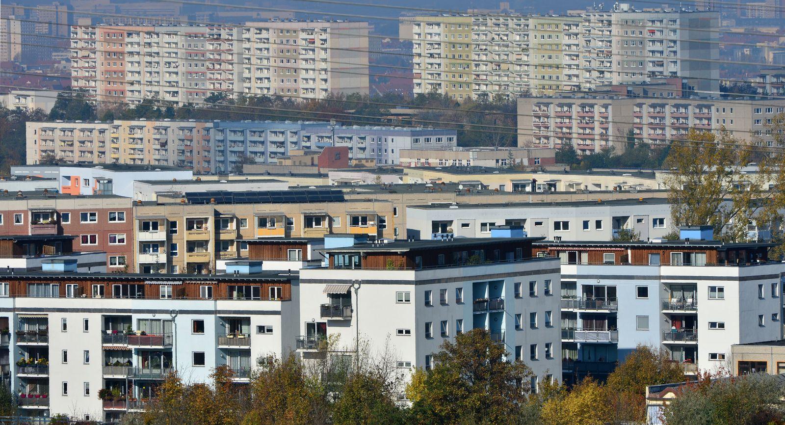 Plattenbauten in Erfurt