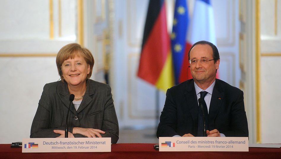"""Merkel, Hollande in Paris: """"Mehr als ein Symbol der Freundschaft zwischen Deutschland und Frankreich, zwischen Europa und Afrika"""""""
