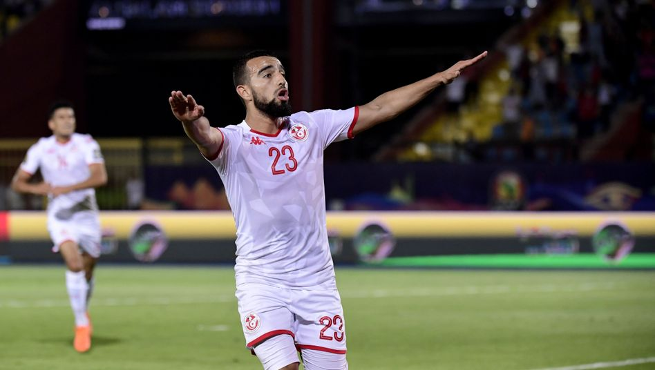Naim Sliti erzielte in der Nachspielzeit das dritte Tor für die Tunesier