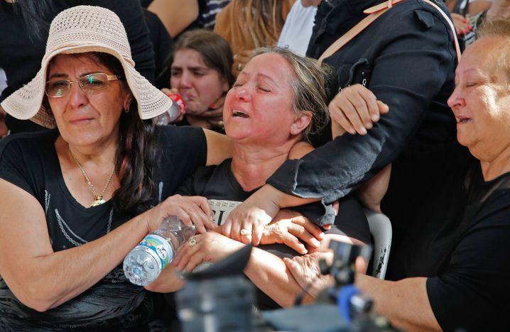Trauerfeier für getöteten Israeli in Aschkelon (am 5. Mai)